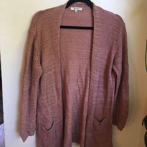 Madewell Long Cardigan Sweater, Rose